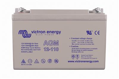 12V/110Ah AGM Deep Cycle Batt. M8